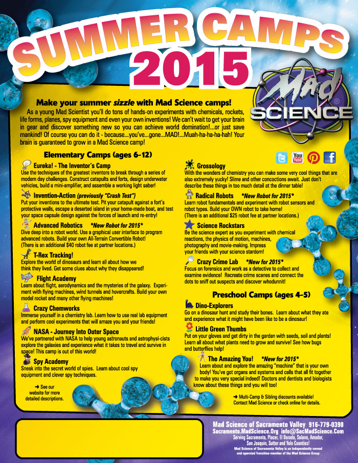 2015 Summer Camp Themes Flyer or our 2015 Summer Camp Schedule Flyer ...